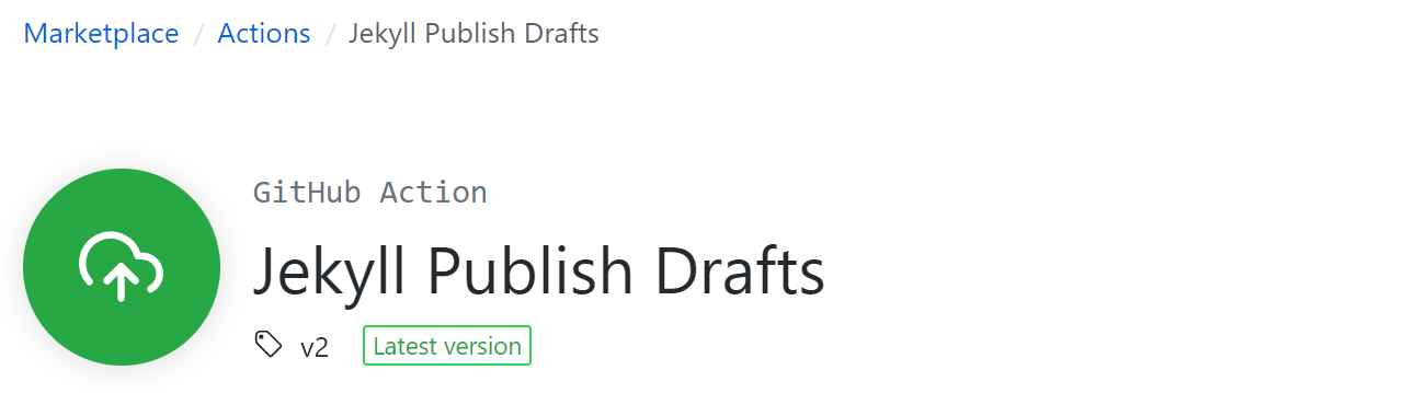Jekyll Publish Drafts